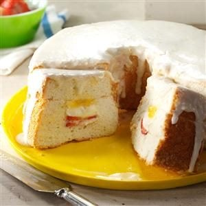 Lemon Curd-Filled Angel Food Cake