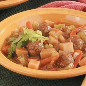 Slow-Cooked Meatball Stew Recipe