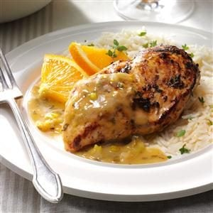Orange-Thyme Chicken in Garlic Sauce   Recipe