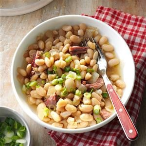 Smoky White Beans & Ham Recipe