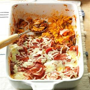 Pizza Macaroni Bake Recipe