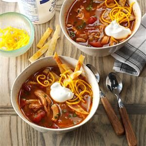 Slow-Cooked Chicken Enchilada Soup Recipe