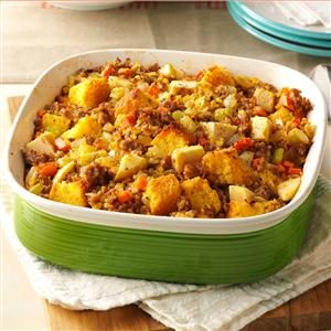 Apple-Sausage Corn Bread Stuffing