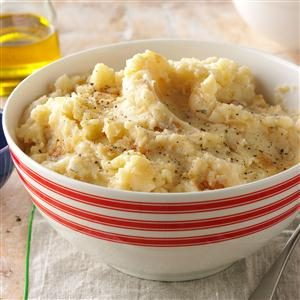 Lightened-Up Mashed Potatoes with Caramelized Onions