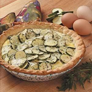 Cheesy Zucchini Pie Recipe