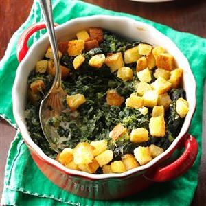 Crunchy Spinach Casserole Recipe