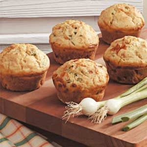 Jumbo Onion Cheese Muffins Recipe