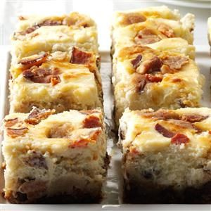 Bacon Chocolate Chip Cheesecake Blondies Recipe