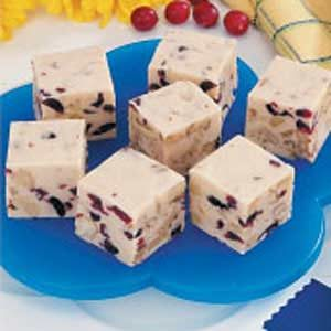 Cranberry Walnut White Fudge Recipe