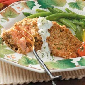 Pecan-Crusted Salmon Recipe photo by Taste of Home