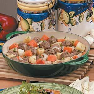 Onion Meatball Stew Recipe