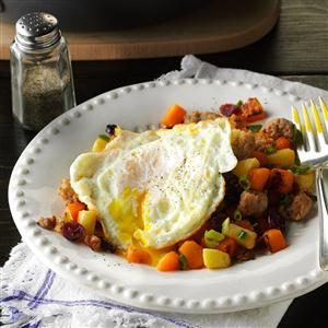 Sausage-Sweet Potato Hash & Eggs Recipe