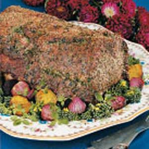Herbed Pork Rib Roast