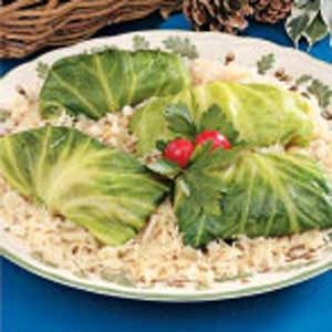 Cabbage Bundles with Kraut