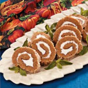 Walnut Pumpkin Cake Roll Recipe