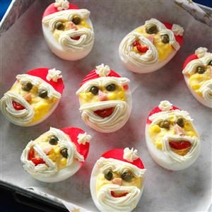 Santa Deviled Eggs Recipe