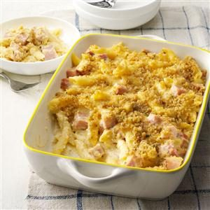 Ham & Swiss Baked Penne Recipe