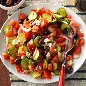 Dad's Greek Salad Recipe photo by Taste of Home