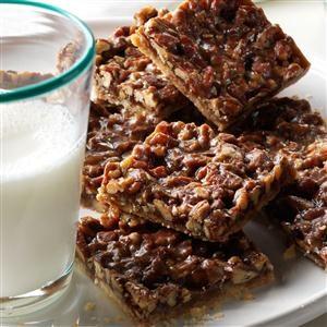Salted Pecan Shortbread Squares Recipe