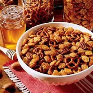 Honey-Glazed Crispy Snack Mix Recipe