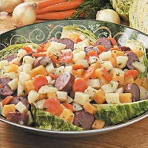 Turkey Sausage with Root Vegetables Recipe