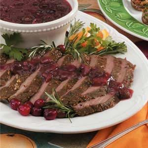 Flank Steak with Cranberry Sauce Recipe