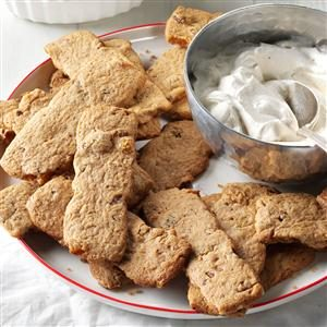 Eggnog Cream with Spiced Pecan Raisin Dunkers Recipe