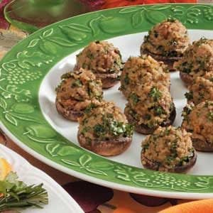 Couscous-Stuffed Mushrooms