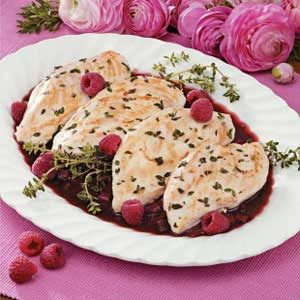 Raspberry Thyme Chicken Recipe