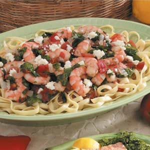 Spicy Shrimp Fettuccine Recipe