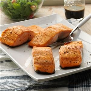 Seared Salmon with Balsamic Sauce Recipe