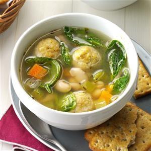 Italian Chicken Meatball and Bean Soup Recipe