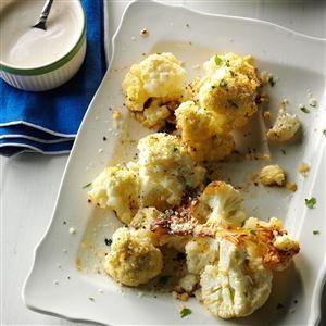 Roasted Cauliflower with Tahini Yogurt Sauce Recipe