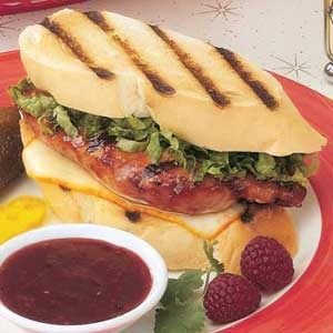 Raspberry Chicken Sandwiches