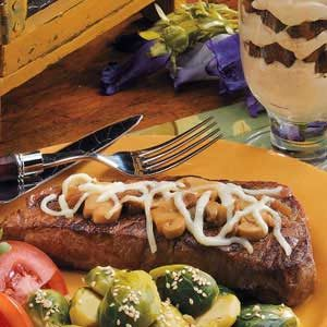 Mushroom Strip Steaks Recipe