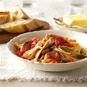 Grandma's Cajun Chicken & Spaghetti Recipe