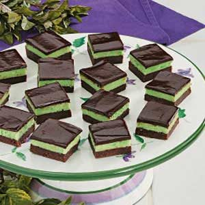 Fudgy Mint Squares Recipe