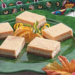 Orange Cheesecake Bars Recipe
