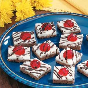 Cherry Cocoa Shortbread Squares Recipe