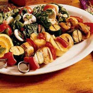 Honey-Mustard Chicken Kabobs Recipe