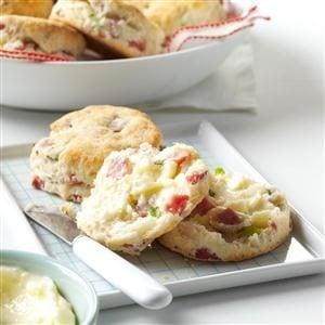 Ham & Green Onion Biscuits Recipe