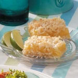Shortbread and Lime Coconut Bars