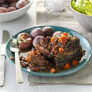 Slow-Cooked Short Ribs with Salt-Skin Potatoes