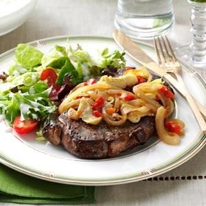 Artichoke Beef Steaks Recipe
