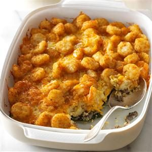 Cheesy Potato Egg Bake Recipe