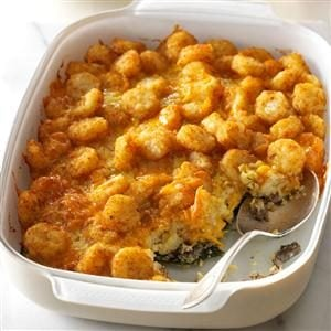 Cheesy Potato Egg Bake