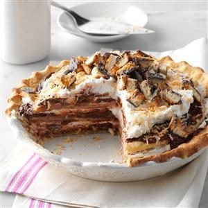 Chocolate Coconut Chantilly Pie