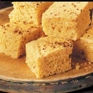 Spicy Corn Bread Squares Recipe