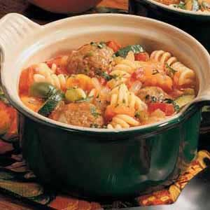 Pasta Meatball Stew Recipe