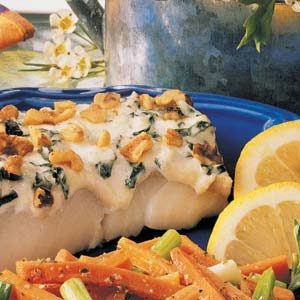 Basil Walnut Fish Fillets Recipe